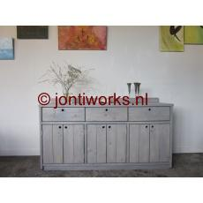 Steigerhout dressoir met kastruimte en laden model Anne