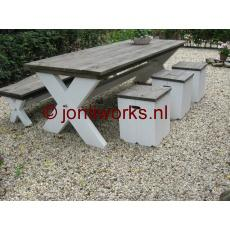 Steigerhout tuinset model Donald